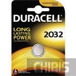 Батарейка Duracell CR2032 (DL2032, 3V, Lithium, Литиевая) 1 шт.