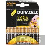 Батарейка Duracell ААА Basic LR03 1.5V Alkaline 18 шт.