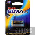 Батарейка CR123A Kodak Литиевая 3V 1 шт.