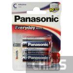 Батарейка LR14 Panasonic Everyday Power C 1.5V Alkaline блистер 2/2 шт.