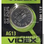 Батарейка Videx AG13 / LR44 / 357 Alkaline 1.5V 1 шт