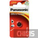 Батарейка LR44 Panasonic AG13 / V13GA / 1154 Alkaline блистер 1/1 шт
