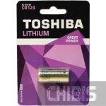 Батарейка CR123 Toshiba Литиевая 3В 1 шт.