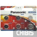 Батарейка CR2032 Panasonic 3 V Литиевая 6/6 шт.
