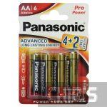 Батарейка АА Panasonic Pro Power Alkaline LR6 1.5V блистер 6 шт.