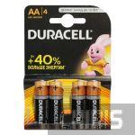 Батарейка АА Duracell Basic LR06 1.5V Alkaline 1/4 шт.