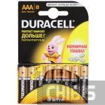 Батарейка ААА Duracell Basic LR03 1.5V Alkaline 8/8 шт.