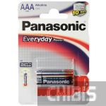 Батарейка ААА Panasonic Everyday Power LR03 1.5V Alkaline блистер 2/2 шт