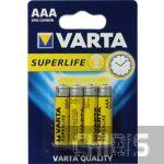 Батарейка ААА Varta Superlife R03 1.5V Цинково-угольная блистер 4/4 шт.