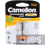 Аккумуляторные батарейки АА 2700 Camelion mAh Ni-MH 1/2 блистер
