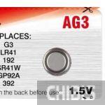 Батарейка Camelion AG3 / SR41W / LR41 / GP92A / 392 / 192 1.5V 1/10 шт