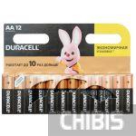 Батарейка АА Duracell Basic LR06 1.5V Alkaline блистер 12/12 шт.