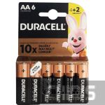 Батарейка Duracell AA 1.5 V Basic 4+2 блистер 6 шт