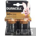 Батарейка LR20 Duracell D Basic 1.5V Alkaline 2 шт.