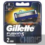 Gillette Fusion ProGlide лезвия для станка 2 шт 7702018085897