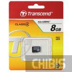 Карта памяти Transcend MicroSDHC 8Gb (Class 4) no adapter