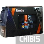 Gillette Fusion ProGlide подарочный набор станок с 2 лезвиями + чехол + гель для бритья 75 мл + бальзам после бритья 7702018359646