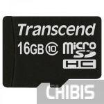 Карта памяти Transcend MicroSDHC 16GB (Class 10) no adapter TS16GUSDC10