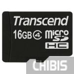 Карта памяти Transcend MicroSDHC 16Gb (Class 4) no adapter
