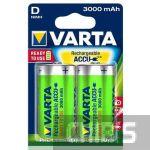 Аккумуляторные батарейки D Varta 3000 mAh Power R2U HR20, 1.2V, Ni-Mh 2/2 шт. 56720101402