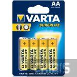 Батарейка АА Varta Superlife R06 1.5V Цинково-угольная блистер 4/4 шт.