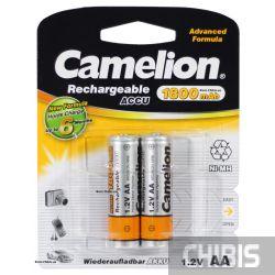 Аккумуляторные батарейки АА Camelion 1800 mAh Ni-MH 1/2 блистер