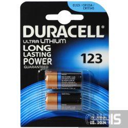 Батарейка Duracell 123A Ultra  3V 1/2 шт блистер 5000394020320