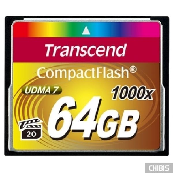 Карта памяти Transcend Compact Flash 1000x 64Gb