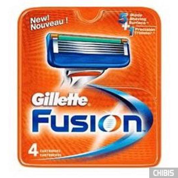 Gillette Fusion лезвия для станка 4 шт 7702018874460
