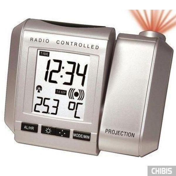Настольные часы LA CROSSE WT535SIL-BLA