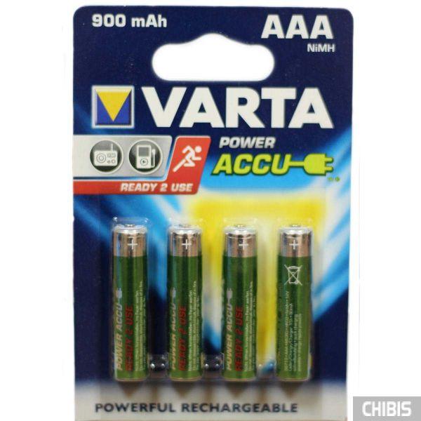 Аккумуляторные батарейки ААА Varta 900 mAh Power HR03, 1.2V, Ni-Mh 1/4 шт 56713101404