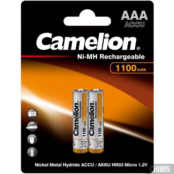 Аккумулятор ААА Camelion 1100 mAh Ni-Mh блистер на 2 шт