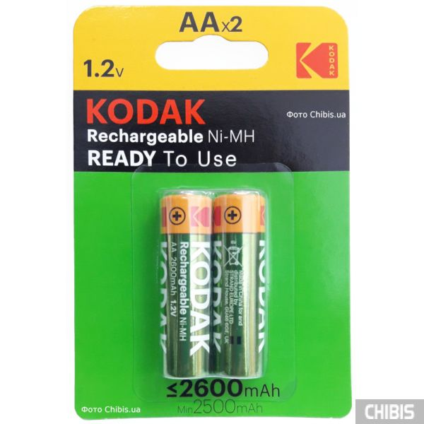 Аккумуляторы AA 2600 Kodak HR6 Ni-MH 2 шт