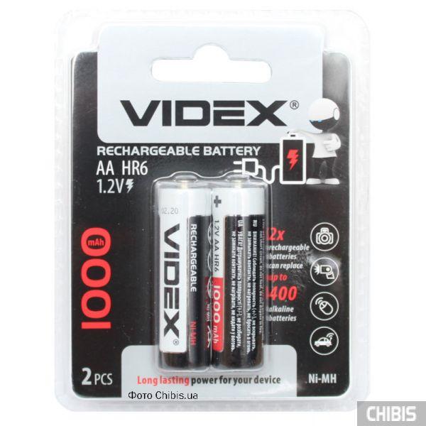Аккумуляторы АА 1000 mAh Videx Ni-Mh блистер 2 шт