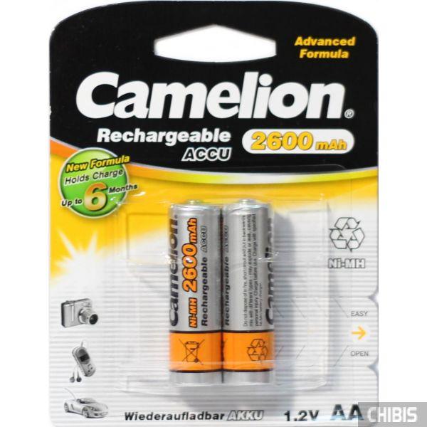 Аккумулятор АА Camelion 2600 Ni-MH 1/2 блистер