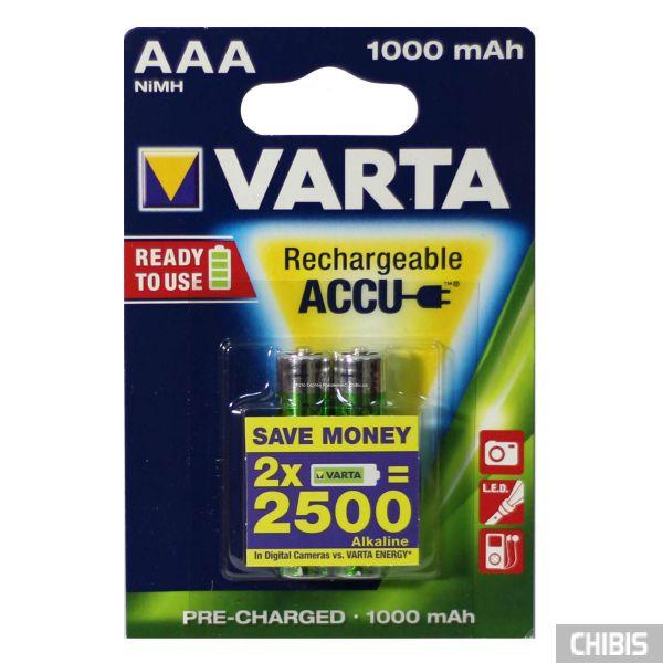 Аккумулятор Varta AAA 1000 mAh Ni-MH 2 шт. 5703