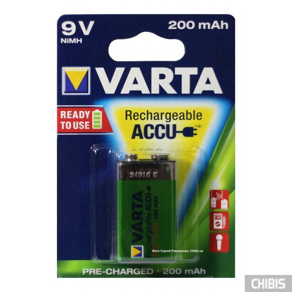 Аккумуляторная батарейка 6F22 крона 9V Varta 56722