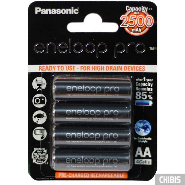 Аккумуляторы АА 2500 mAh Eneloop Pro Panasonic 4 шт