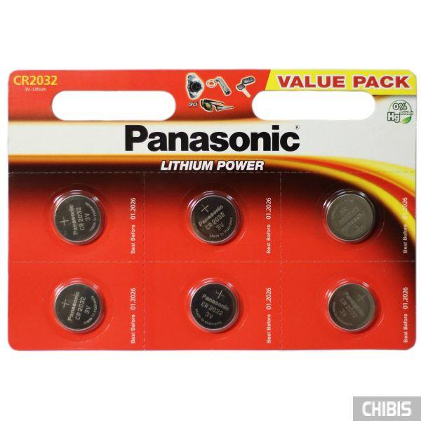 Батарейка Panasonic CR-2032EL/6B Professional