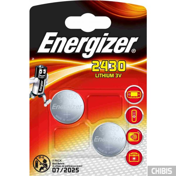 Батарейка CR2430 Energizer Lithium 2 шт