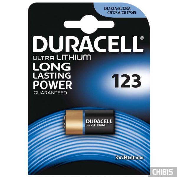 Батарейка 123 Duracell 3V Литиевая