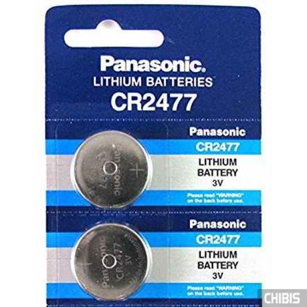 Батарейка CR2477 Panasonic 3V Литиевая 1/5 шт