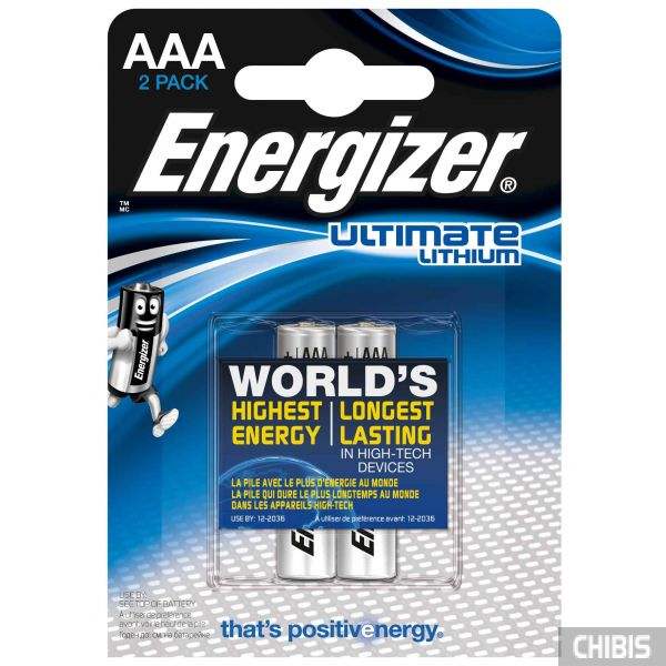 Батарейки ААА Energizer Ultimate Lithium 2 шт.
