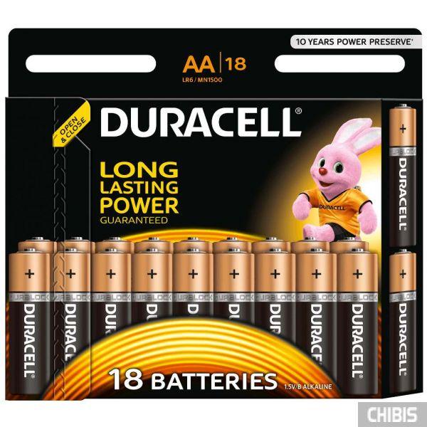 Батарейка АА Duracell Basic LR06, 1.5V, Alkaline 1/18 шт.