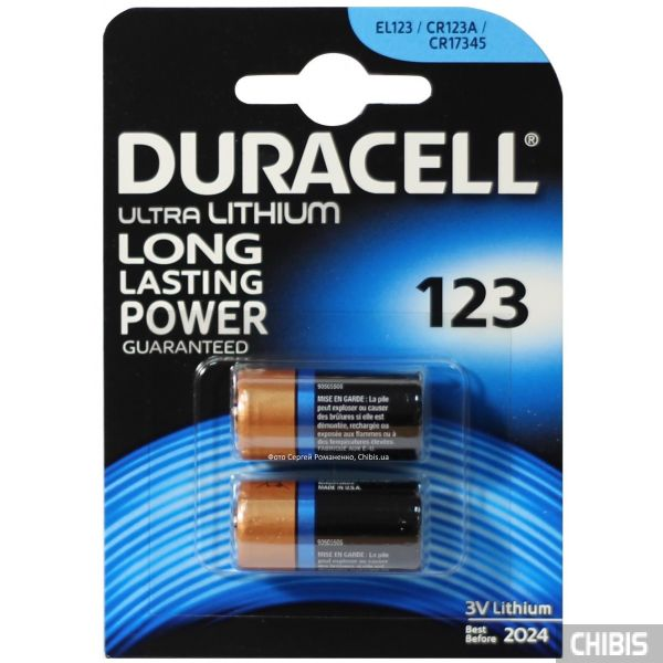 Батарейка 123 3V Duracell Ultra lithium