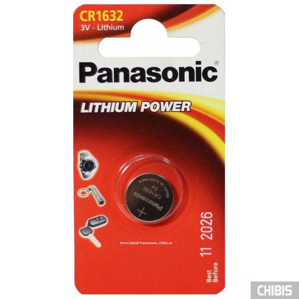 Батарейка CR 1632 Panasonic 3V Литиевая