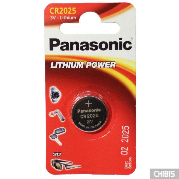 Батарейка Panasonic CR-2025EL/1B Professional (3V, Литиевая) 1/1 шт.