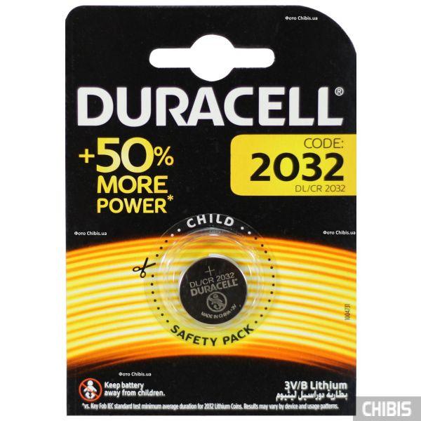 Батарейка 2032 Duracell 3V Lithium 1 шт.