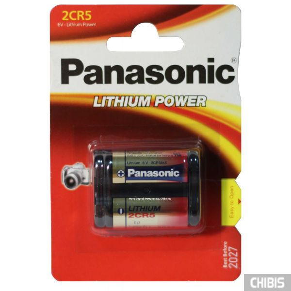 Батарейка Panasonic 2CR5 Lithium Power 6V, 2CR-5L