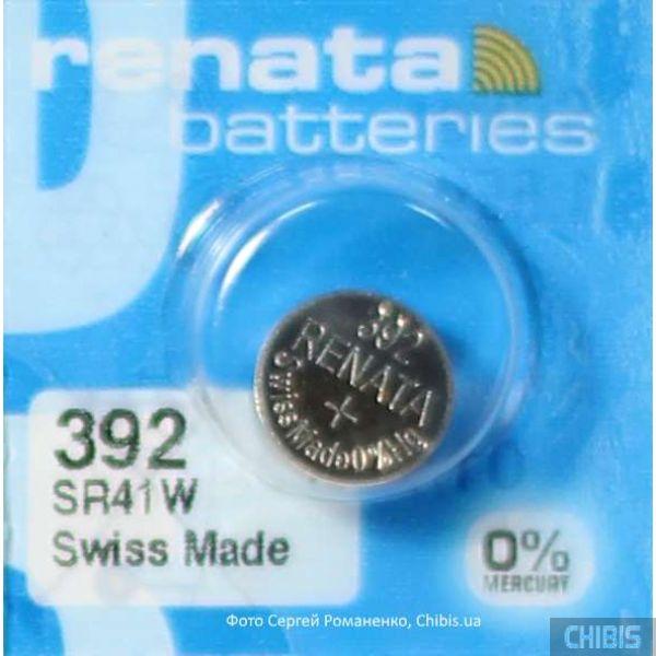 Батарейка для часов Renata SR41W (392) 1.55V Silver 1 шт